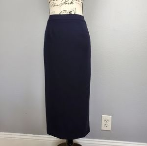 Talbots long skirt navy blue